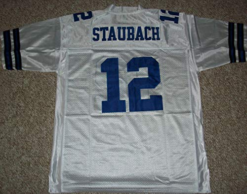 Unsigned Roger Staubach #12 Dallas Custom Stitched White Football Jersey Various Sizes New No Brands/Logos Size 2XL
