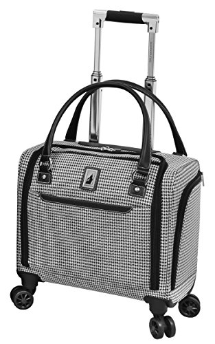 London Fog Cambridge II 15' 8 Wheel Under Seat Bag, Black White Houndstooth