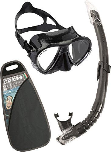 Cressi Matrix and Gamma Combo Set de Buceo, Unisex, Negro