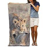 Toalla de playa NE – adorable león ligero absorbente de secado rápido toallas de baño toalla toalla de playa toalla de baño y ducha manta de playa