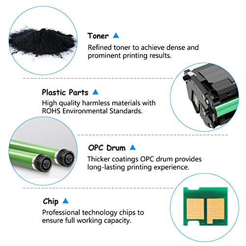 SuperInk 2 PK Black Toner Cartridge Replacement Compatible for Samsung MLT-D101S MLTD101S to use with SCX-3405W ML-2165W SCX-3405FW ML-2161 ML-2166W ML-2160 ML-2165 SCX-3400F SCX-3401FH Photo #7