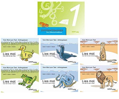 Zifferntrainer, Lies mal 1,2,3,4,5,6 Ente, Frosch, Robbe, Krake, Erdmännchen, Löwe