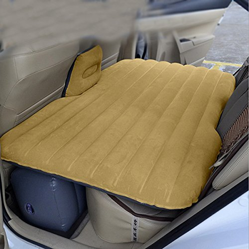 JEOBEST Car Mattress Travel Air Bed Inflatable Mattress Camping Universal with Air Pump,Two Pillows(Ship from USA)