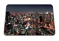22cmx18cm マウスパッド (街の夜の建物) パターンカスタムの マウスパッド