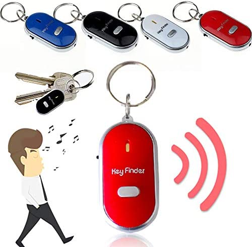 LED Light Torch Remote Sound Control Lost Key Finder Locator Keychain Whistle Sound Item Locator product image