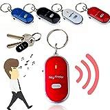 Localizador de llaves inteligente antipérdida con silbato y control de sonido,...