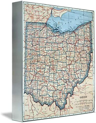 Imagekind Wall Art Print Entitled Vintage 1921 of Special Campaign by Ohio Map supreme