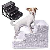 Pet Stairs | Dog Cat Gate Stairs | 3Step Pet Dog Ladder Ramp | Non-Slip Stepper | Lightweight &...