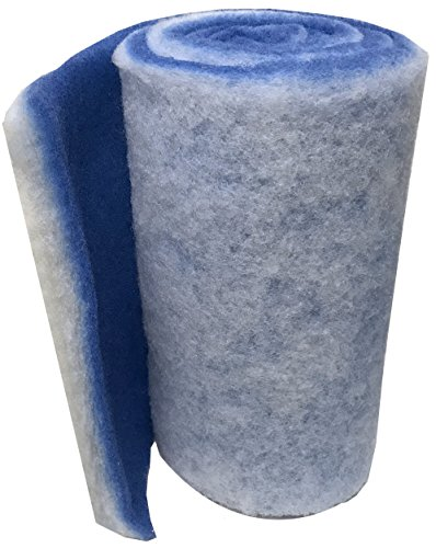 Encompass All Classic Bonded Filter Pad For Ponds and Aquariums - Cut To Fit 12x72 - Blue/White