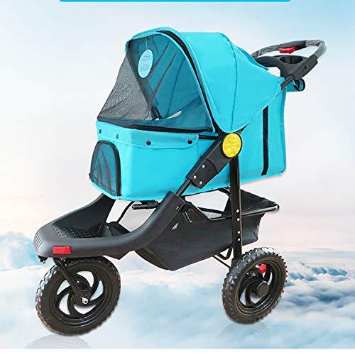 Best LOVEPET Large Three-Wheel Folding Pet Stroller Dog Cat