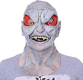 Adult Kids Bloody Face Off Horror Halloween Costume Mask