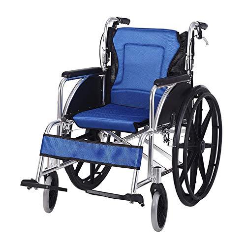 Leichter Rollstuhl Leichtgewichtrollstuhl mit Steckachsen, Trommelbremse TB, Sitzbreite 43 cm Armlehnen lang Reiserollstuhl Transportrollstuhl, Folding Wheelchair