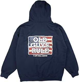 Hooded Sweatshirt for Men | A Life Well Served | Hoodie Pullover | Navy