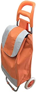 Portable and Foldable Shopping Trolley Bag, Orange