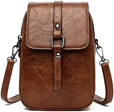 Small Leather Crossbody Shoulder Bag Headphone Plug Cellphone Wallet Purse product image