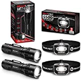 GearLight S500 LED Headlamp [2 Pack] + GearLight TAC LED Tactical Flashlight [2 Pack]