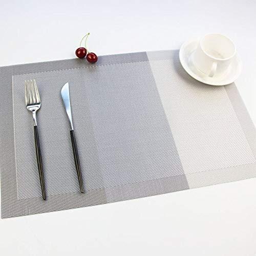 NIKIMI Rechteck Tischset Plaid Striped PVC Esstisch Matten Fashion Disc Pads Schüssel Pad wasserdicht Untersetzer Set 2/4/6
