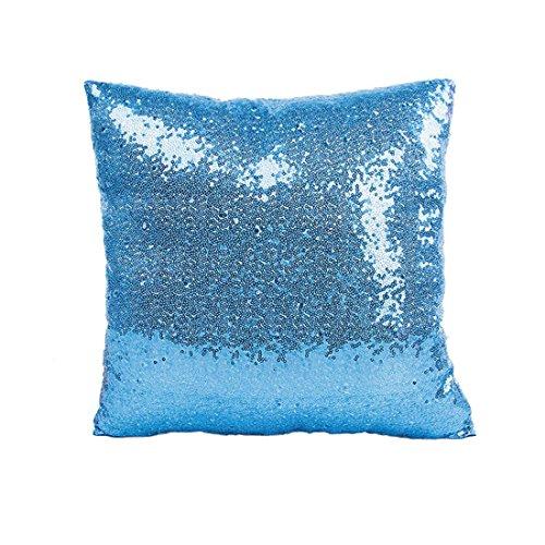 Kolylong® Sequins Kissenbezug Glitter Pailletten Kissen (40cm * 40cm / 15.74 * 15.74