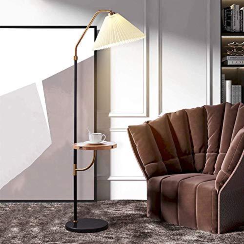 GLXLSBZ Lámpara de pie Regulable con estantes de Almacenamiento, Pantalla Plisada, luz de pie con Control táctil, 3 temperaturas de Color, para Sala de Estar, Dormitorio, Oficina