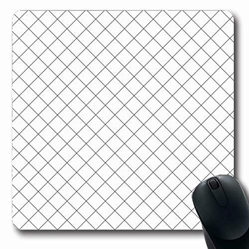 Mousepad Oblong Diamond Ornate Square oder Can Ornament Line Ordnen Sie Gitter Weg Abstrakte Texturen Dekoration Überlappung Rutschfeste Gummi Mauspad Büro Computer Laptop Spiele Mat