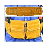 Apron Leather Tool Belt Repair Kit Pocket Adjustable Waist Design Reinforced Rivets are Anti-Split, Wear-Resistant and Tear-Resistant The Best Gift Choice