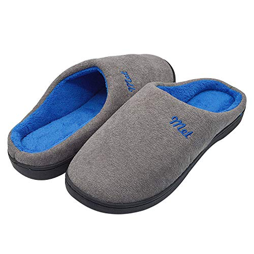 Sporzin Zapatillas de Casa para Mujer Hombre Unisexo Invierno Memory Foam Casa Zapatos Antideslizante Pantuflas