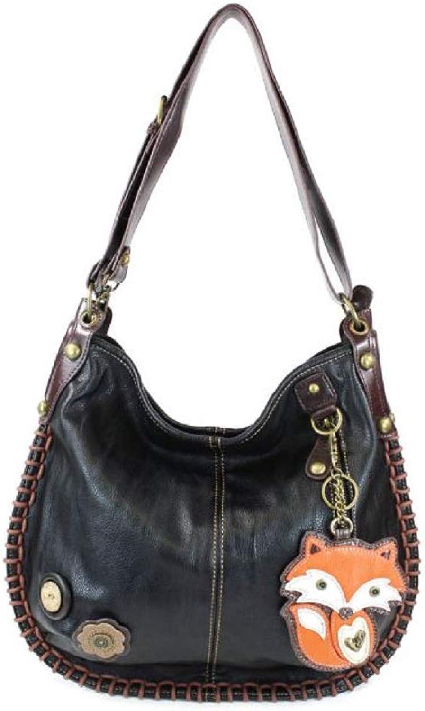 Chala CONgreenIBLE Hobo Large Tote Bag FOX Vegan leather gift Black + Coin Purse