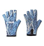 Columbia Unisex Terminal Tackle Fishing Glove, Vivid Blue Real Tree Mako Camo, Large\/X-Large