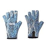 Columbia Unisex Terminal Tackle Fishing Glove, Vivid Blue Real Tree Mako Camo, Large\/X-Large