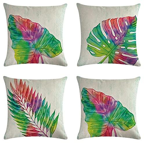 JOVEGSRVA Fundas de almohada decorativas de 45 cm x 45 cm, fundas de almohada para sala de estar, sofá cama, juego de 4