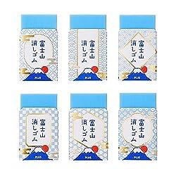 プラス エアイン 富士山消しゴム 青富士 全6柄セット