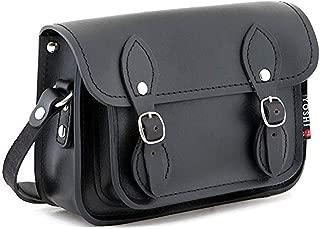 Yoshi Tilney Black Leather Cross Body Mini Satchel Bag