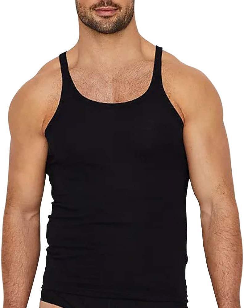 Baltimore Mall Muscle Alive Alternative dealer Men's Basic Tank Neck Crew Undershirts Top Sleevles