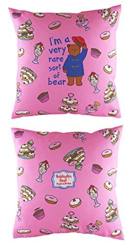 Paddington Bear Pink Filled cushion 'I'm a very rare sort of bear' 17 inch x 17 inch