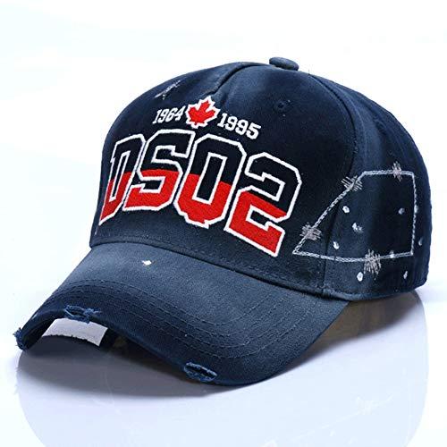 HXXBY Berretto da baseball di visiera in bianco e nero di quattro stagioni cappello da uomo Tide versione coreana del cappello di sole giovinezza marea casuale cappello sportivo studente cappello spor