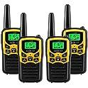4-Pack MOICO 5-Mile Long Range 22-Channel Two-Way Radio Walkie Talkies