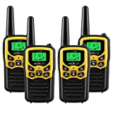 Walkie Talkies Long Range for Adults Two-Way Radios Up to 5 Miles in Open Fields 22 Channels FRS/GMRS VOX Scan LCD Display with LED Flashlight Ideal for Field Survival Biking Hiking Camping 4 Pack