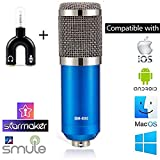 Techtest Studio Microphone Bm 800 Condenser For Sound Recording Home Voice Singing With