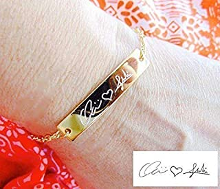 bracelets with handwriting engraved