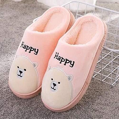 Zapatos de Casa Interior Suave Algodón Zapatilla ,Zapatillas de interior de algodón de invierno, zapatillas de suela gruesa para hombres y mujeres, zapatillas abrigadas, suaves y afelpadas cómodas-