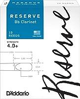 D'Addario  リード レゼルヴ スタンダード B♭クラリネット 強度:4.0+(10枚入) ファイルドカット DCR10405