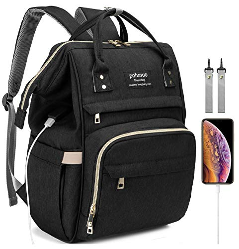HLMBB Diaper Bag Backpack, Large Capacity for Baby...