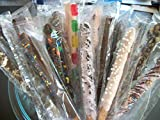 Chocolate Covered Pretzel Rods Coated In Chocolate/White Chocolate WITH TOPPINGS ASSORTED 16 Pieces