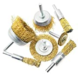 ZZHXSM Pole Wire Brush Wheel & Cup Wire Brush Set 7 in 1 Electric Grinding Angle Grinder Brush Head Grinding Head for Removing Rust, Corrosion and Paint