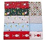 Tela de algodón DIY patchwork día de Navidad algodón 6pcs 25cmx25cm diferentes patrón patchwork tela de algodón para bricolaje artesanía costura acolchado