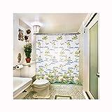 Abellale Duschvorhang Textil Anti Schimmel Frosch Polyester Badvorhang 100x200 cm