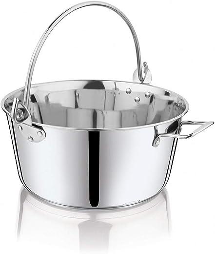 Penguin Home Professionell Rostfreier Stahl Induktionssicher Marmeladenpfanne/Maslin Pan, 8.5 Liter Fassungsvermögen