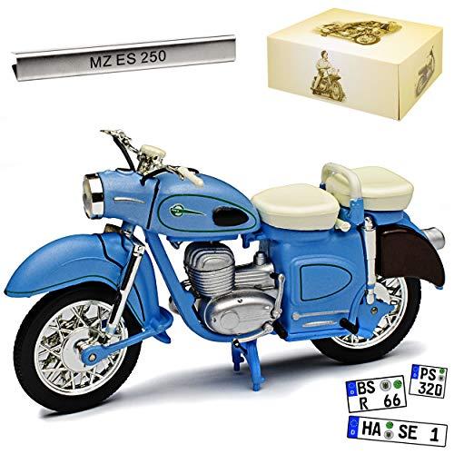 Atlas MZ ES 250 Blau DDR 1/24 Modell Motorrad