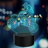 Luz nocturna para vehículos todoterreno, tobogán 3D para motocicleta todoterreno, luz LED con sensor táctil USB de 7 colores, utilizada para que los entusiastas del deporte recolecten regalos