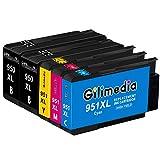 Gilimedia 951 XL 950 XL Cartouche d'encre pour HP 950 951XL pour HP Officejet Pro 8600 8610 8620 8615 8100 8630 8616 8625 8640 8660 HP 251DW 276DW (2 Noir 1 Cyan 1 Mégenta 1 Jaune , 5 Pack )